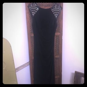 Xscape a-line beaded gown